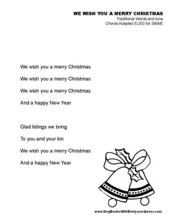 We Wish You a Merry Christmas ELEG SBWE no chords