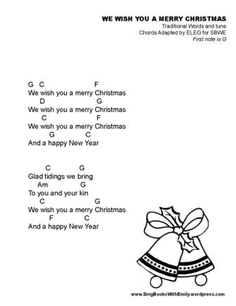 We Wish You a Merry Christmas ELEG SBWE w chords nosy crow