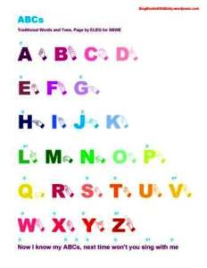 ABC letters caps WITH SIGN and chords portrait ELEG 4 SBWE
