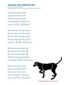 OLD BLUE lyrics w guitar chords 4 SBWE