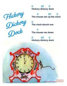 hickory dickory dock w chords 4 sbwe