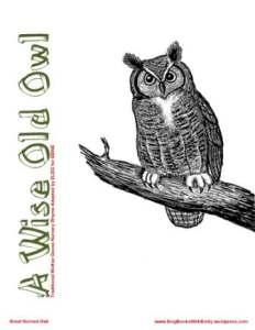 wise old owl book eleg sbwe cover only