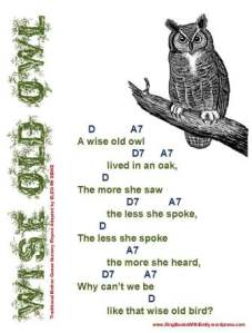 wise old owl w chords eleg sbwe