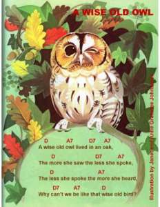 wise old owl w chords johnstone - Copy