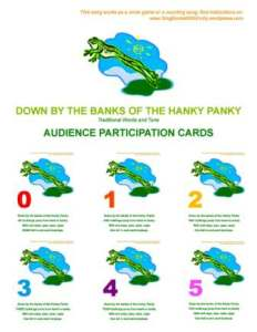 down by the banks participation cards cover only