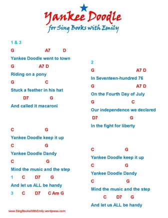 Yankee Doodle An Illustrated Song Sing Books With Emily The Blog