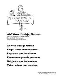 SBWE SBS ah vous dirai-je maman lyrics & chords