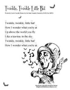 SBWE SBS TWINKLE LITTLE BAT w chords
