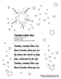 SBWE SBS twinkle little star w chords
