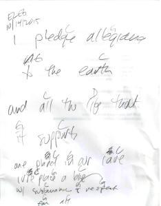 Earth Pledge chords ELEG SBWE1