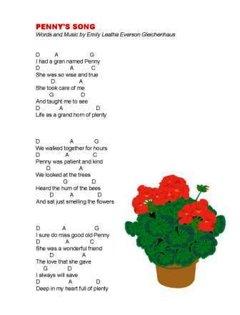 penny's song eleg sbwe lyrics w chords 2