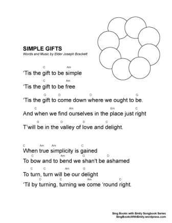 Simple Gifts A Singable Picture Book Sing Books With Emily The Blog