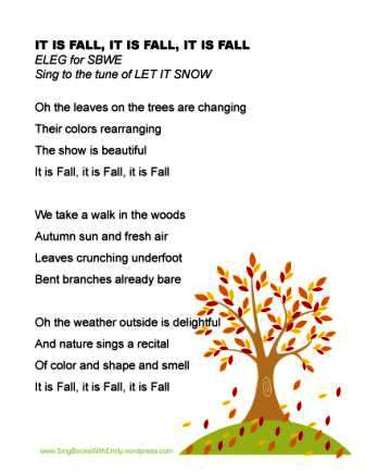 IT IS FALL - ELEG 4 SBWE sing along sheet