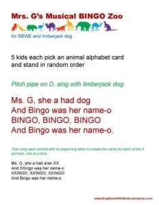 Mrs Gs Musical Bingo Zoo w Limberjack Dog