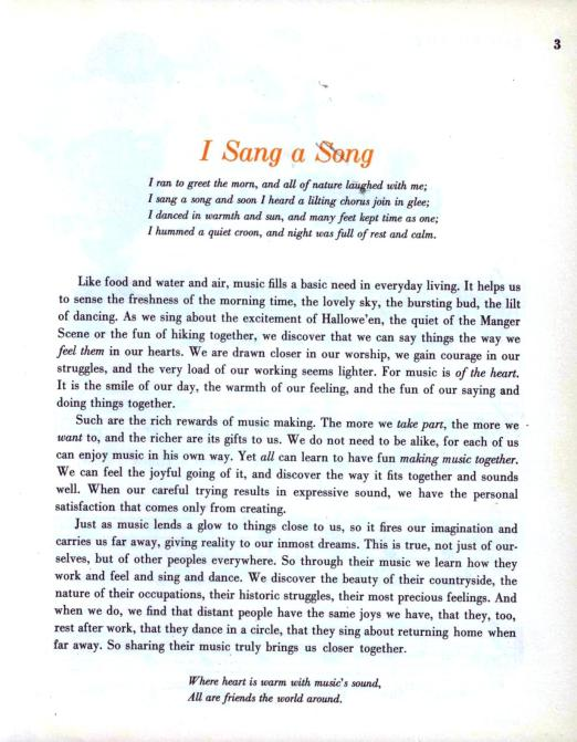 MUSIC 'ROUND THE CLOCK, an Instructional Music Book with