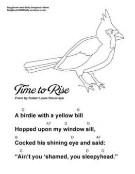 Time To Rise By Rls A Singable Poem Sing Books With Emily The Blog This poem is in the public domain. time to rise by rls a singable poem