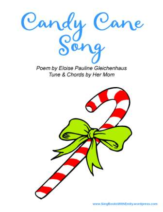 candy cane song book epg eleg sbwe cover only