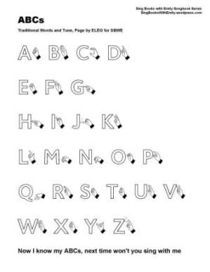 SBWE SBS ABC letters caps w sign no chords