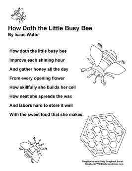 SBWE SBS how doth busy bee (no chords)