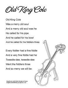 SBWE SBS old king cole (no chords)