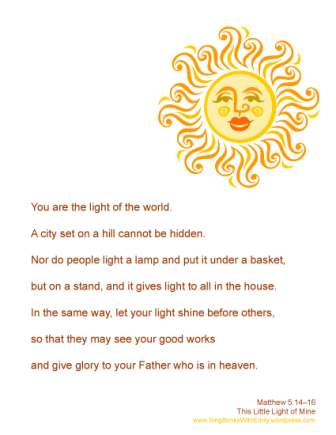 Matthew 5, 14-16 You are the light of the world