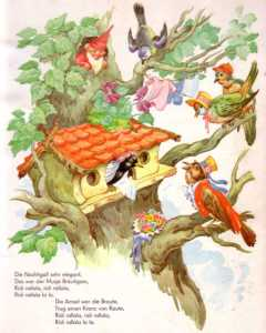 ein vogel wollte hochzeit machen (illustration)