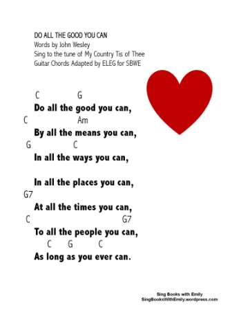 DO ALL THE GOOD YOU CAN by ELEG for SBWE w chords