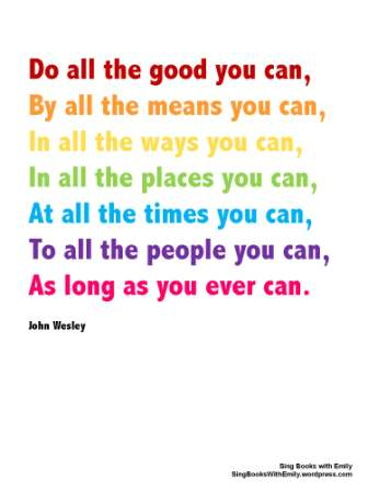 DO ALL THE GOOD YOU CAN by ELEG for SBWE