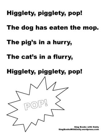 Higglety pigglety pop no chords bw