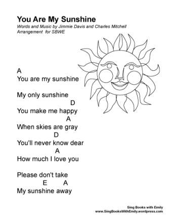 you are my sunshine eleg sbwe