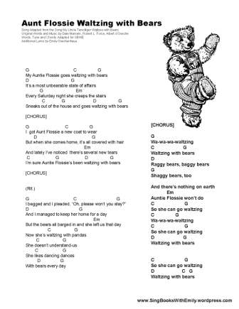 Aunt Flossie Walzing With Bears for SBWE song sheet