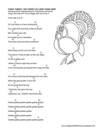 funny turkey song sheet eleg sbwe