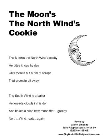 Moon's the North Wind's Cooky SBWE song sheet no chords