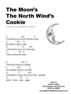 Moon's the North Wind's Cooky SBWE song sheet