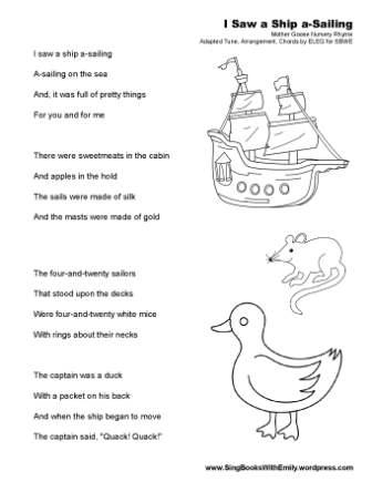 I Saw a Ship SBWE simple no chords