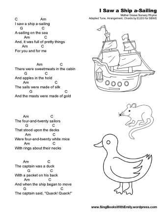 I Saw a Ship SBWE simple w chords