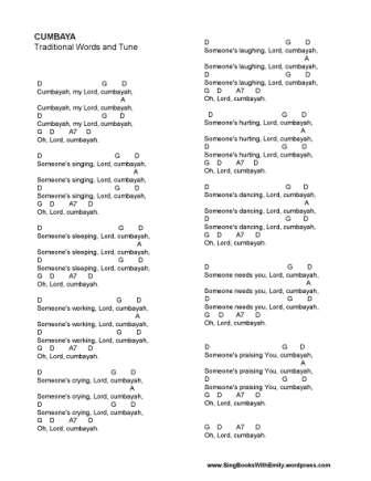 Cumbaya for SBWE (w chords)