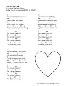 Jesus Loves Me for SBWE (w chords)