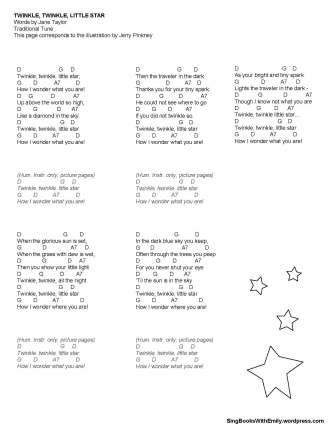 twinkle little star w chords complete pinkney