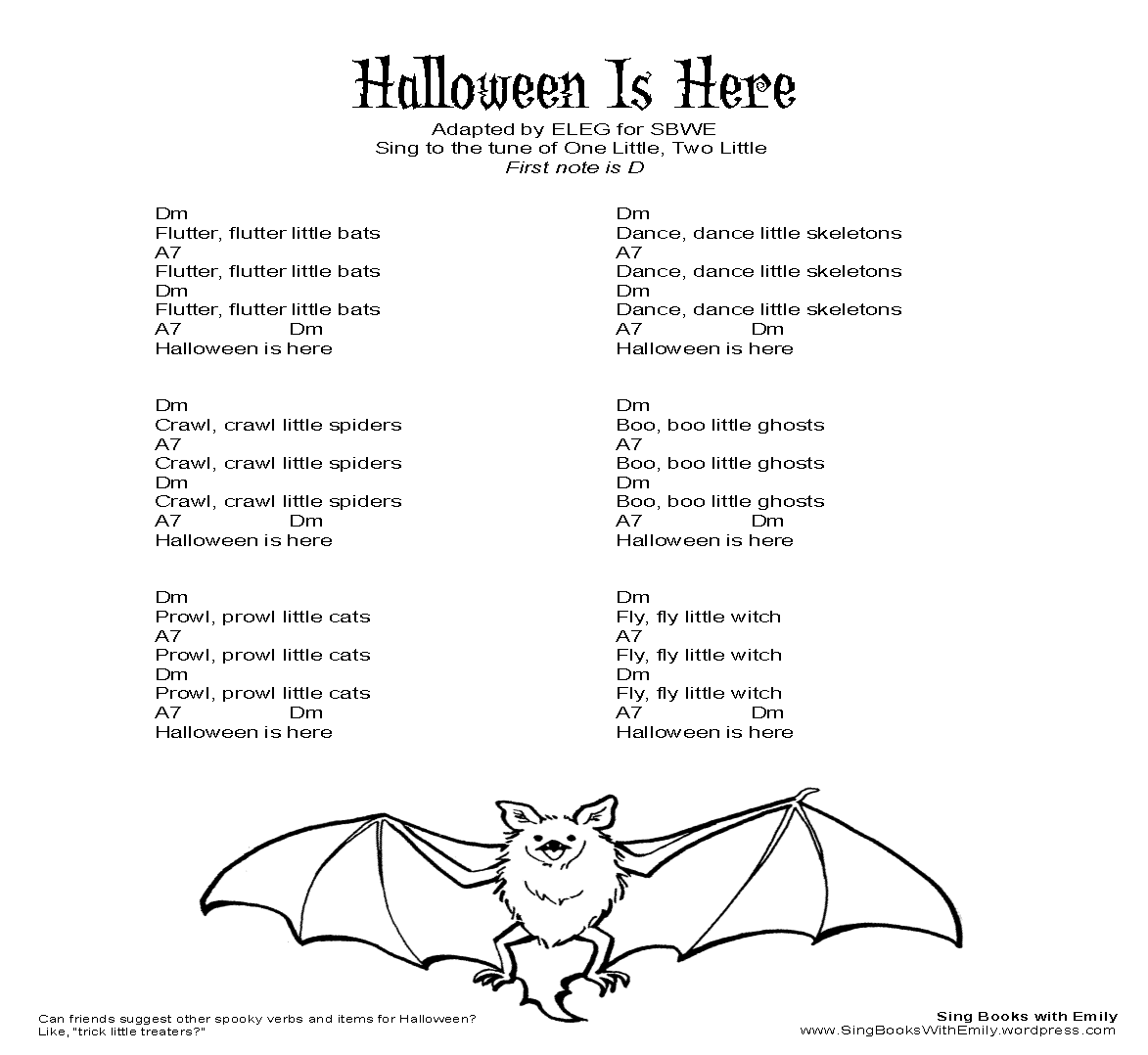 Halloween is here for sbwe an illustrated song sing books halloween is here for sbwe an illustrated song sing books with emily the blog hexwebz Gallery