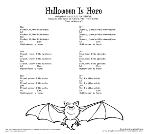 Halloween is Here SBWE w chords