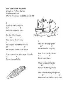 itsy bitsy pilgrim word w chords