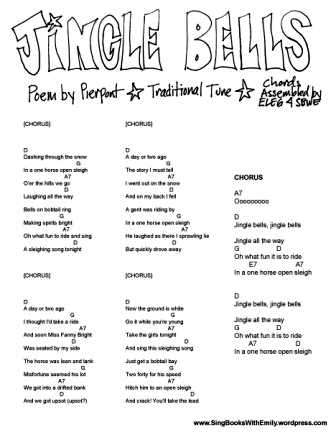 photograph relating to Jingle Bells Lyrics Printable identified as Jingle Bells, the Complete Package and Kaboodle Sing Guides with