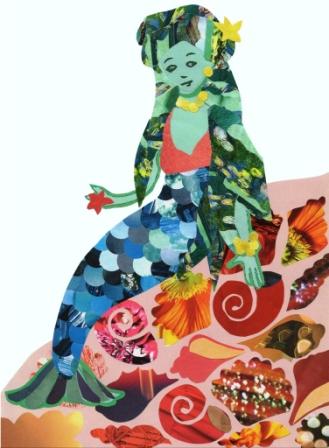 mermaid on rock - sea - smaller - web