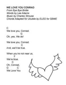 We Love You Conrad SBWE w uke chords