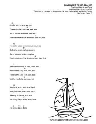 A Sailor Went To Sea Sea Sea An Illustrated Song Song Song Sing