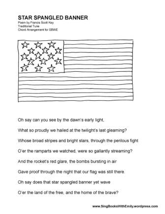 Star Spangled Banner ELEG SBWE no chords