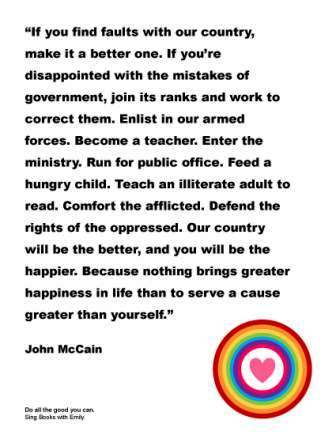 do all the good you can - john mccain quote poster - eleg sbwe - thumbnail
