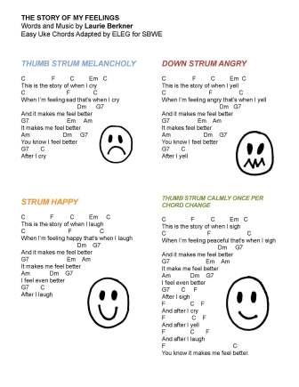 story of my feelings (by Laurie Bernker) (w easy uke chords)