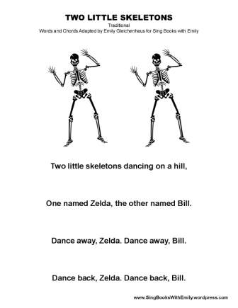 two little skeletons SBWE no chords